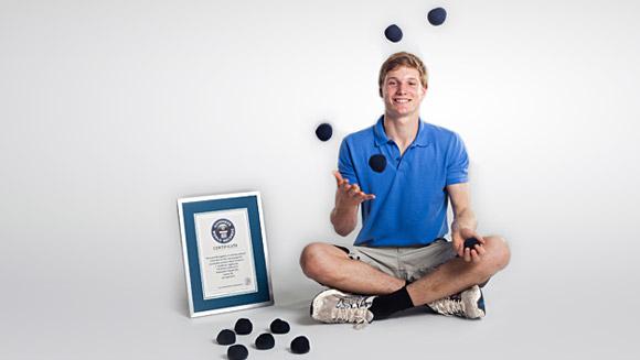 Record Juggler Alex Barron